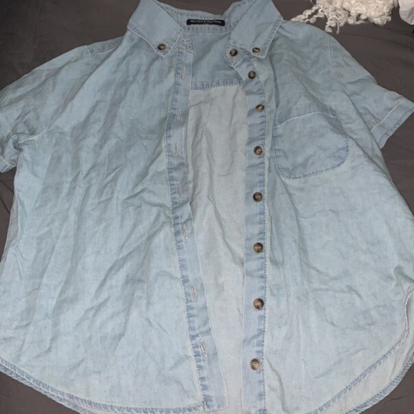 Brandy Melville Jean Button-Up